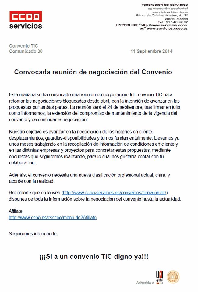 Negociacion Convenio TIC