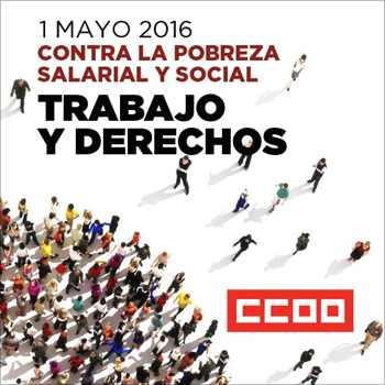 Cartel 1 de Mayo CCOO