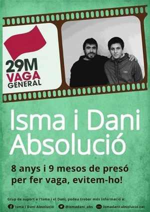 Prision para Isma y Benito por ejercer derecho de huelga