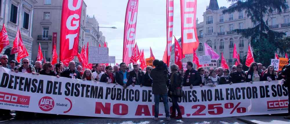 Manifestacion en defensa de las  pensiones