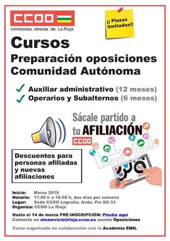 cartel cursos oposiciones