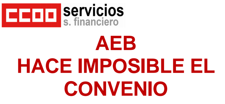 AEB imposible convenio banca