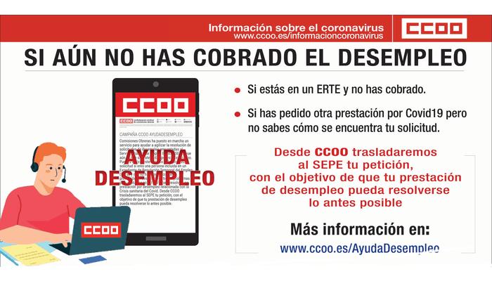 Ayuda desempleo CCOO