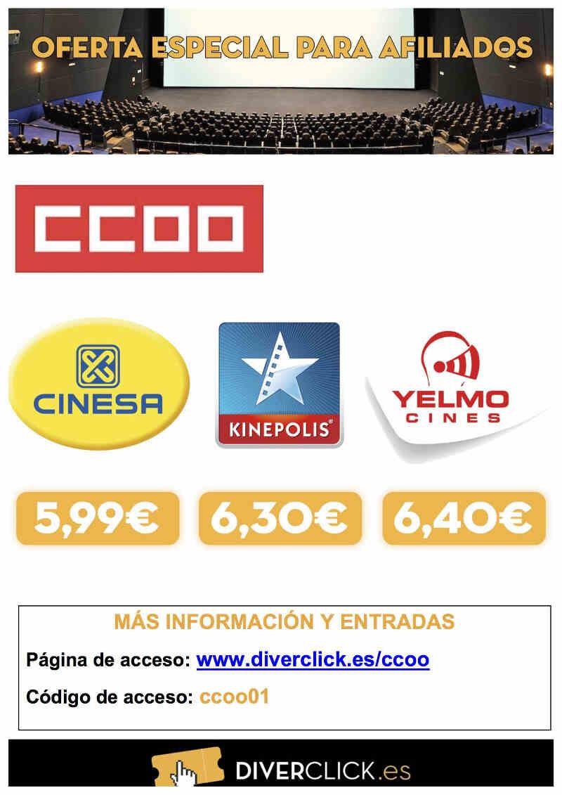Oferta cine afiliados ccoo