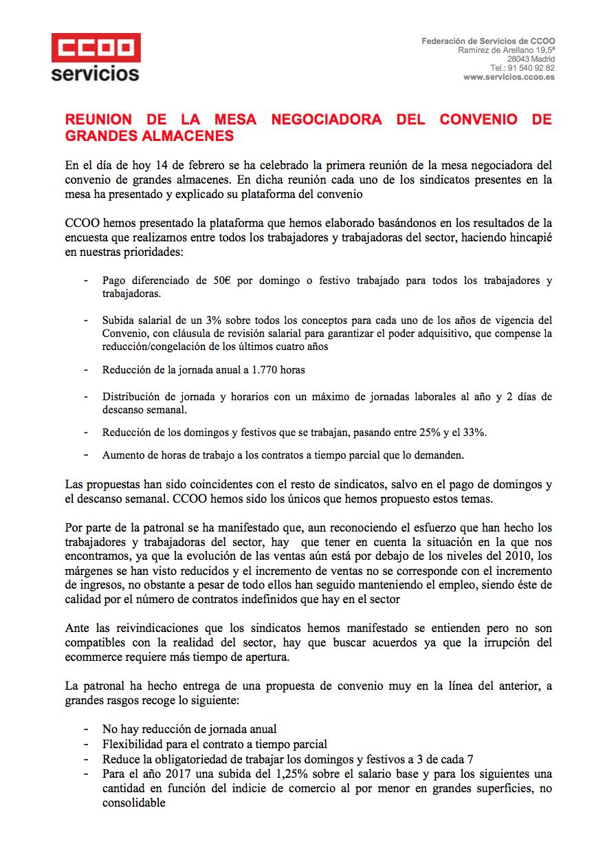 Pagina 1 del segundo comunicado