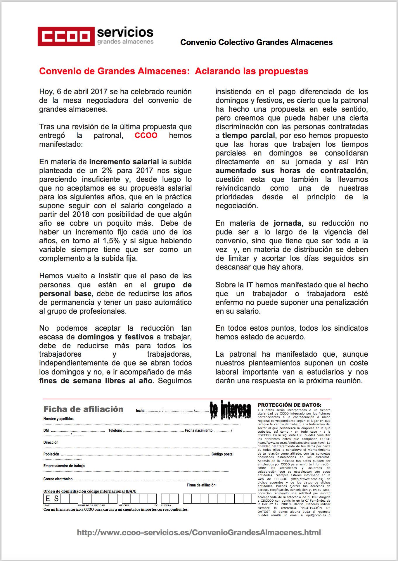 Pagina 1 del quinto comunicado GGAA