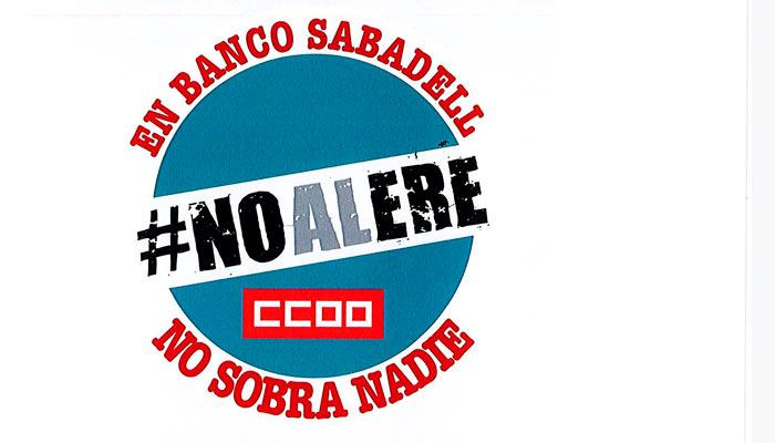 No al ERE en Banco sabadell
