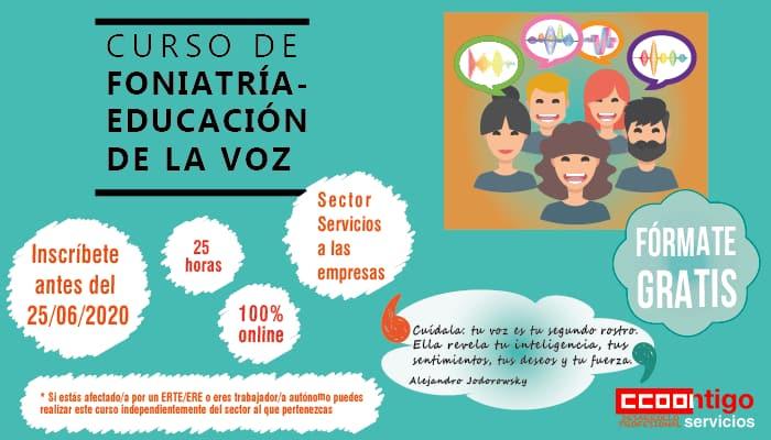 Curso foniatria, educación de la voz