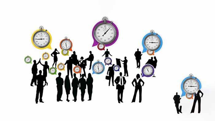 personas, relojes
