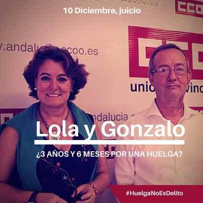Derecho de huelga. Juico a Lola y Gonzalo