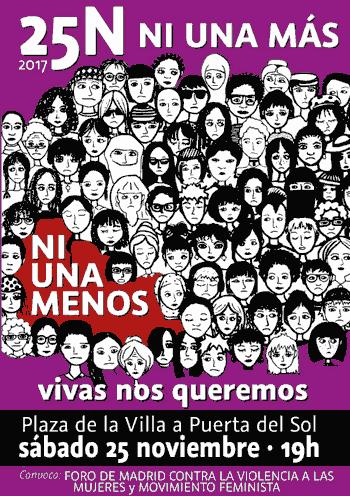 Manifestación 25 N. Violencia contra las mujeres