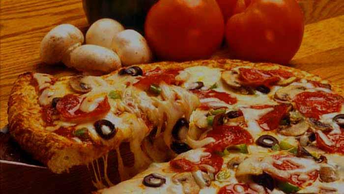 comida rápida, pizza