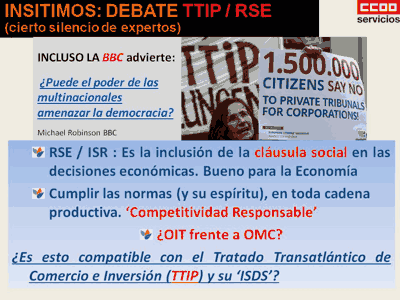 RSE, TTIP y Democracia