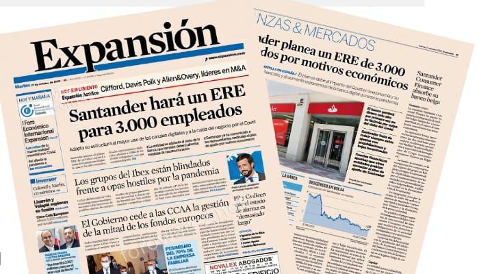 Expansion habla sobre ERE en Banco Santander
