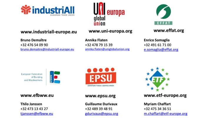 reuniones sindicales transnacionales en crisis covid 19