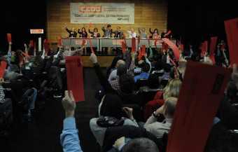 Votación Codigo etico de CCOO