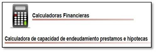 Calculadora capacidad endeudamiento