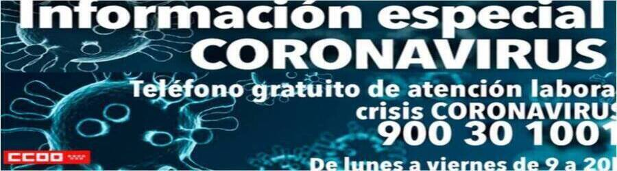 Información especial coronavirus