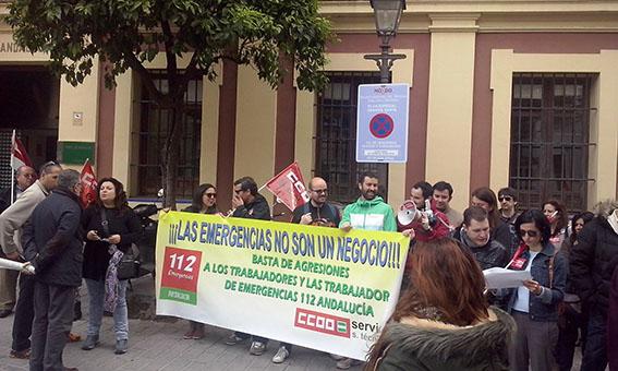 Huelga plantilla 112 Sevilla. Contact Center