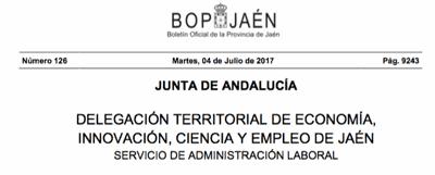 Boletin Oficial Jaén