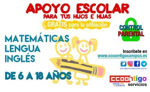 Apoyo escolar afiliación CCOO