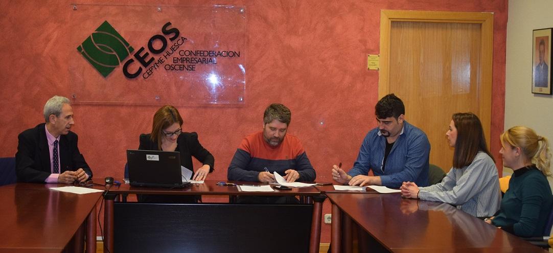 Firma convenio colectivo comercio general de Huesca