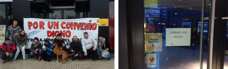 Huelga en Burger King (Gijón), en lucha.