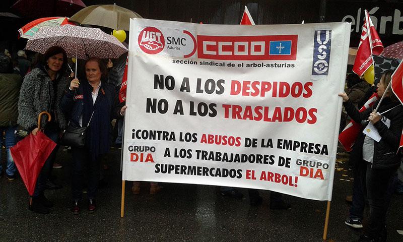paros movilizaciones empleo supermercados el arbol asturias