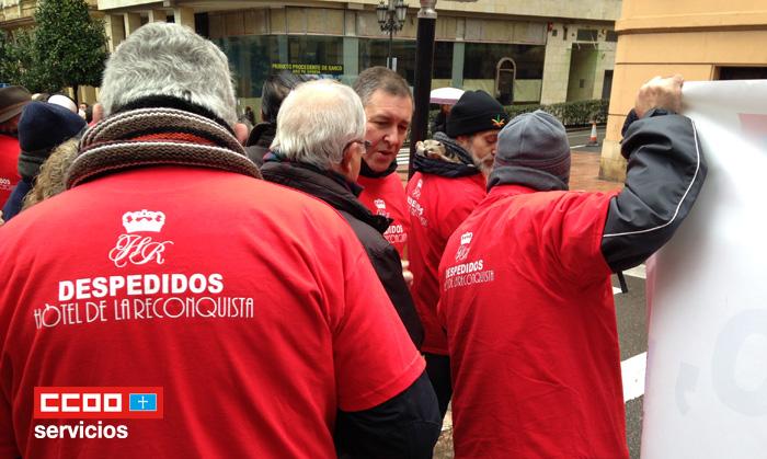 Trabajadores unidos en la lucha Hotel Reconquista Oviedo