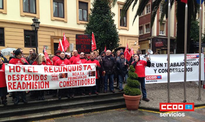 Despedidos en lucha Hotel Reconquista Oviedo