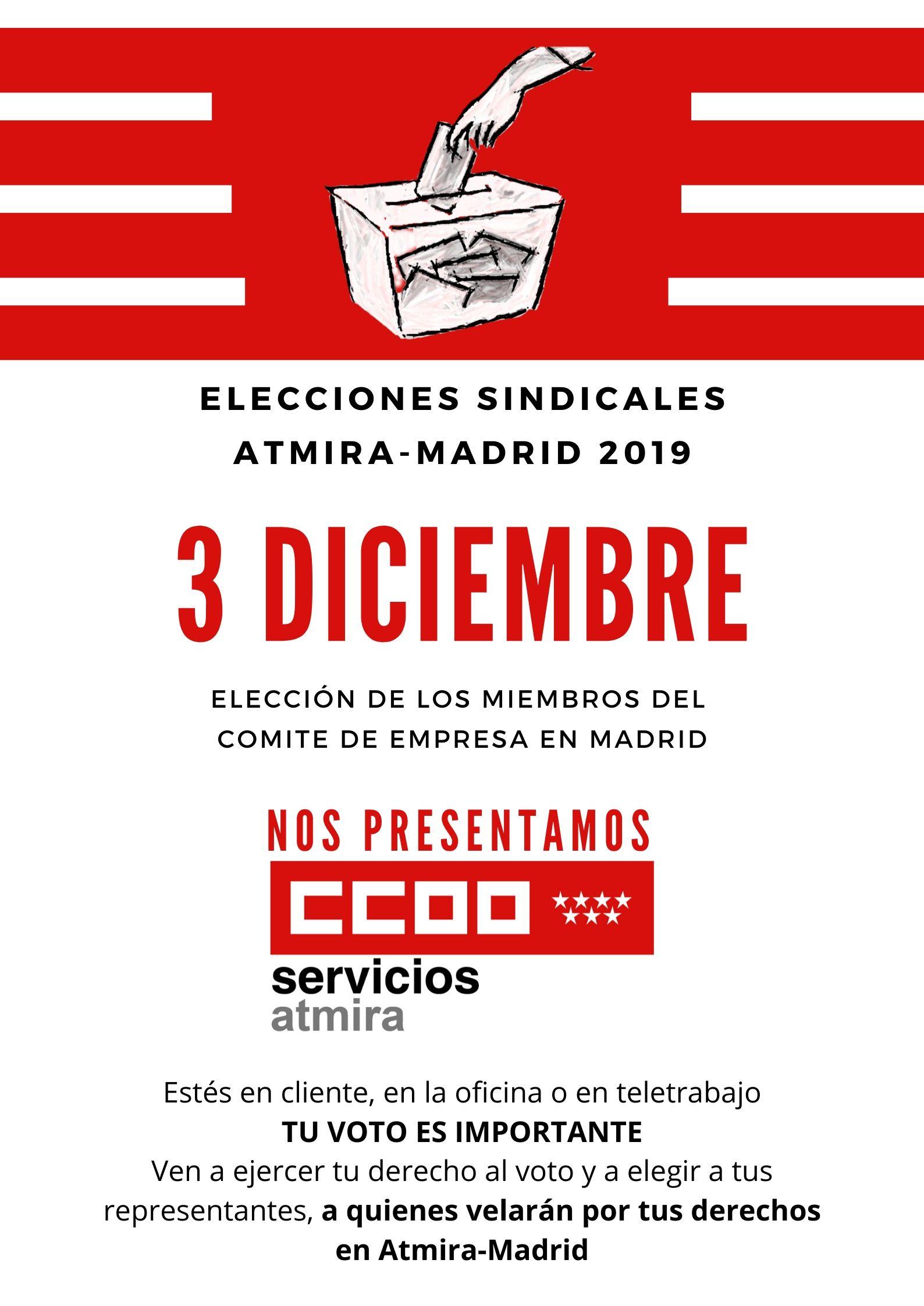 elecciones sindicales atmira-madrid 2019