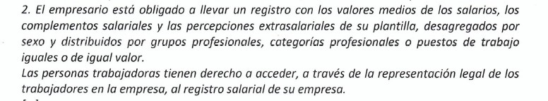 RDL 6-2019 Registro salarial