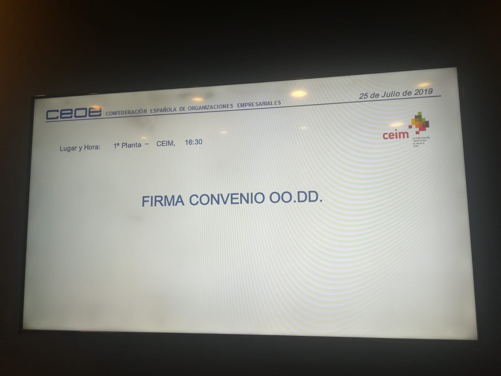 Firma del convenio de OODD de Madrid