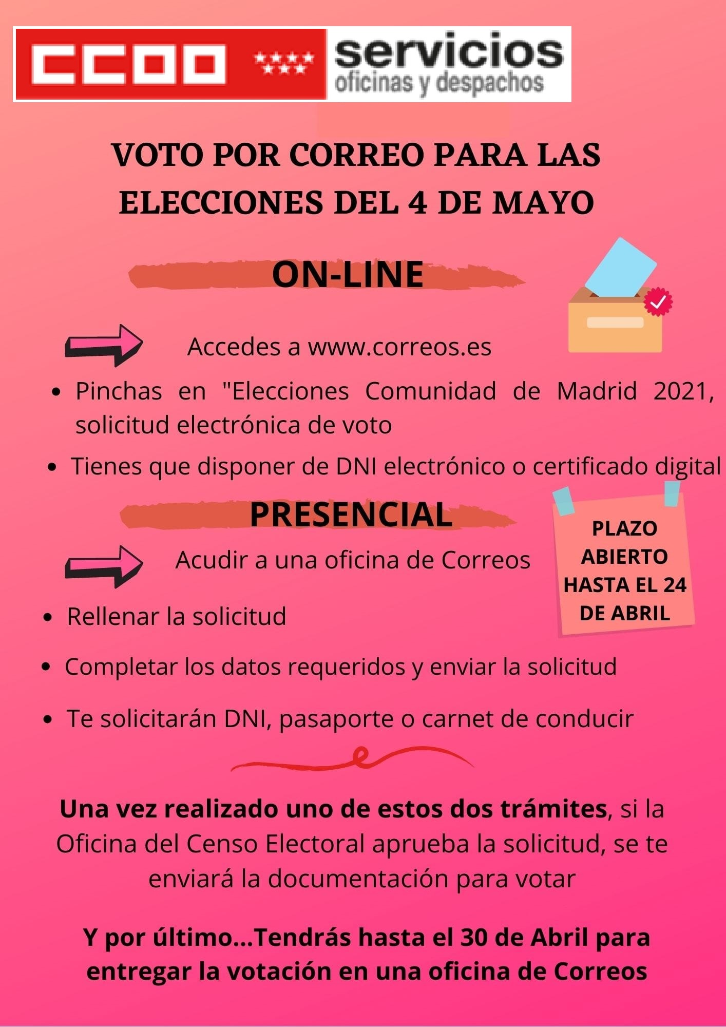 voto por correo 4mayo
