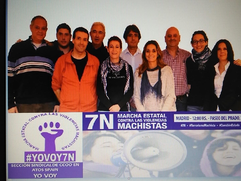La S.S. de CC.OO. en Atos Spain contra la violencia machista