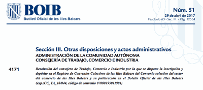 Convenio Comercio Baleares