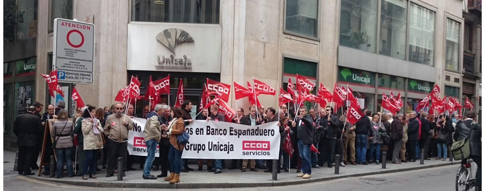 Concentración de empleados en Madrid