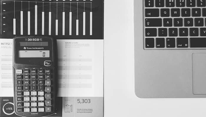 Sector financiero. calculadora y gráficas