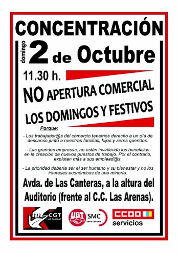 conventracion Las Palmas horarios comerciales