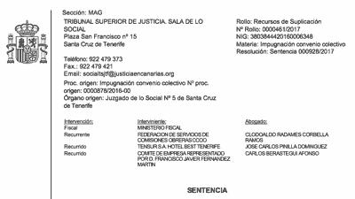 Sentencia TSJ discriminacion salarial en hosteleria