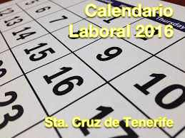 Calendario Laboral 2015 Santa Cruz Tenerife