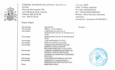 Sentencia Tribunal Superior Justicia Canarias. Manuel Fitas