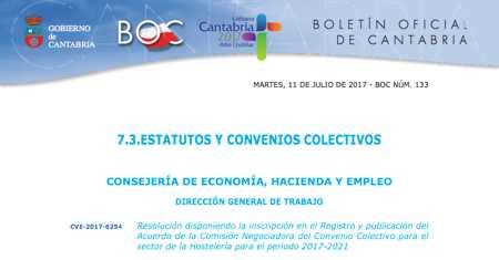 Convenio hostelera Cantabria