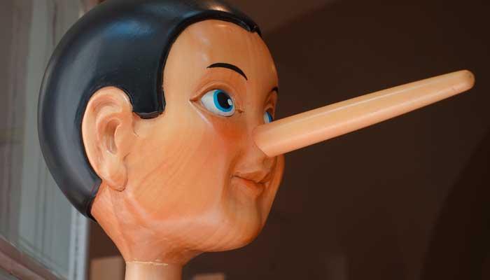 cara nariz pinocho