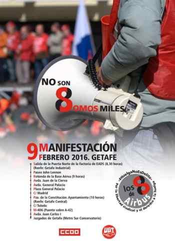 huelga no es delito. Manifestacion Getafe