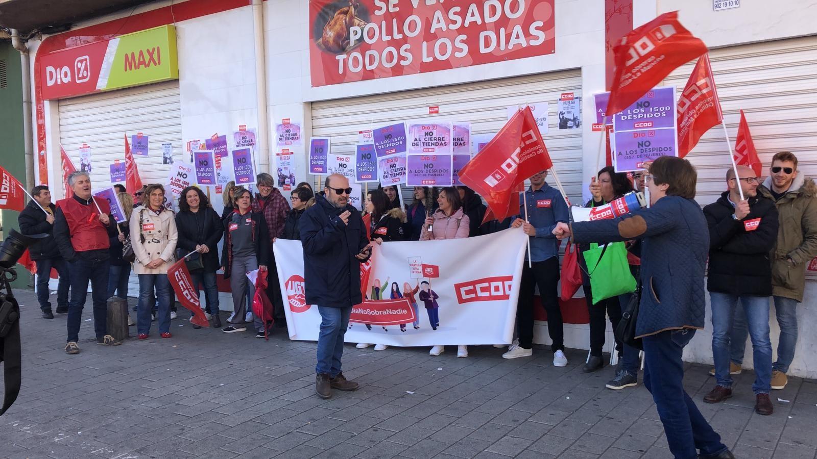 Huelga en DIA ALbacete