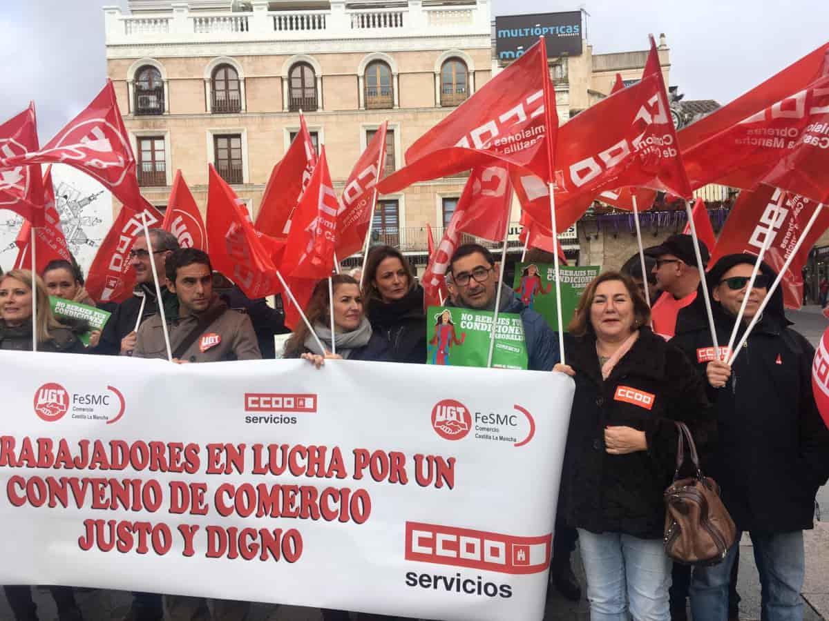 Conventraciones CCOO Convenio Coletivo de Comnercio en C iudad Real y Toledo