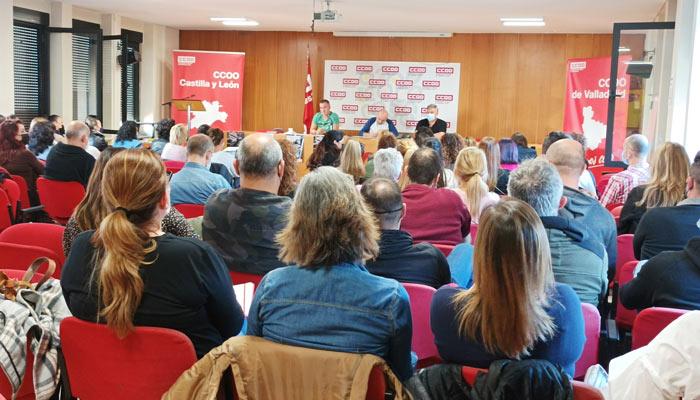 Asamblea CCOO Convenio medianas superficies Castilla y León