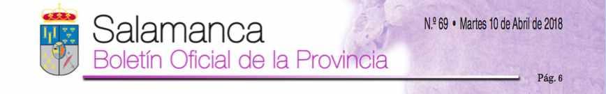 Boletin oficial de la provincia de Salamanca. Publicacion Convenios Colectivos