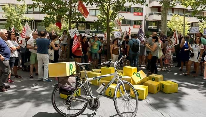 Manifestación condiciones de trabajo riders